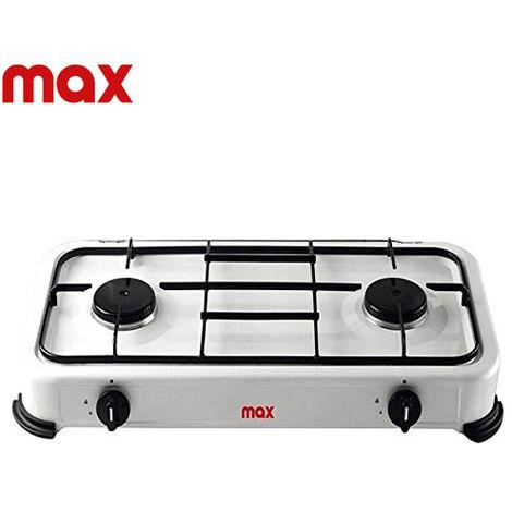 Cucina a Gas Fornello Piano Cottura 2 Fuochi Per Uso Interno ed Esterno MAX