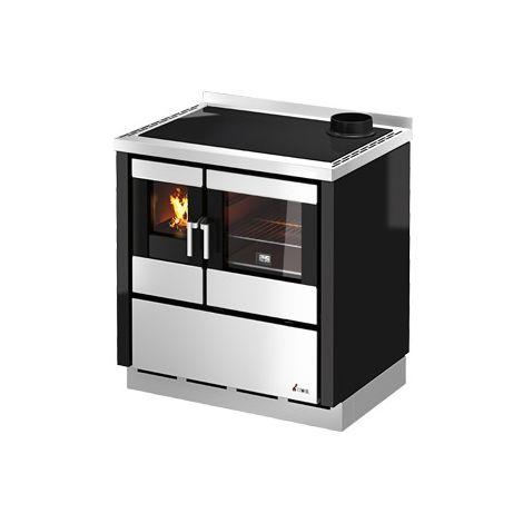 Cucina a legna CADEL modello KOOK 80 da Incasso colore Nero