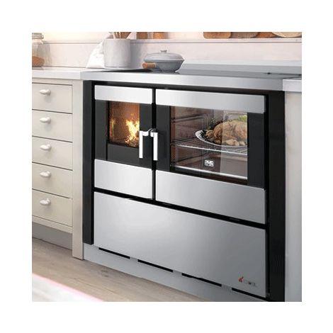 Cucina a legna CADEL modello KOOK 80 da Incasso colore Nero - 0529020-B