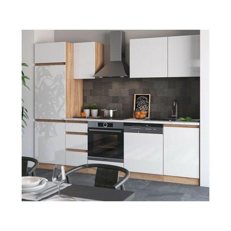 Cucina Completa Moderna.Cucina Completa Componibile Moderna 9 Pezzi Lunghezza 270 Cm Bicolore