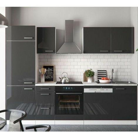 Cucina completa componibile moderna 9 pezzi lunghezza 270 cm ...
