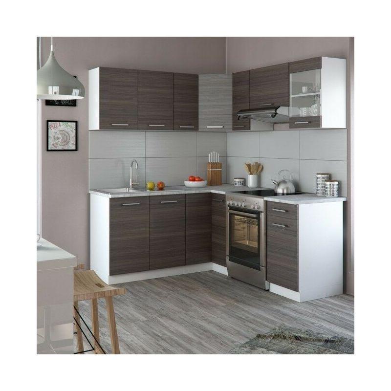 Cucina componibile completa ad angolo con 6 pensili e 4 basi rosy ...