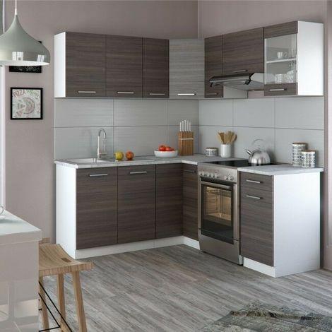 Cucina componibile completa ad angolo con 6 pensili e 4 basi ...