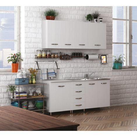 Cucina componibile in legno | Bianco - AZ435