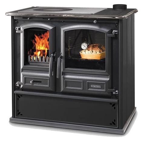 Cucina con forno a Legna Regina 631 Steel Dal Zotto 8 Kw