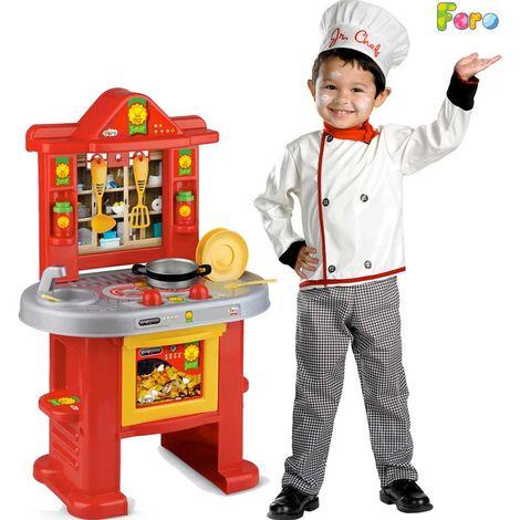 Cucina Cuoco Mr Chef Faro Toys Con Accessori Altezza 70 cm Bambini ...