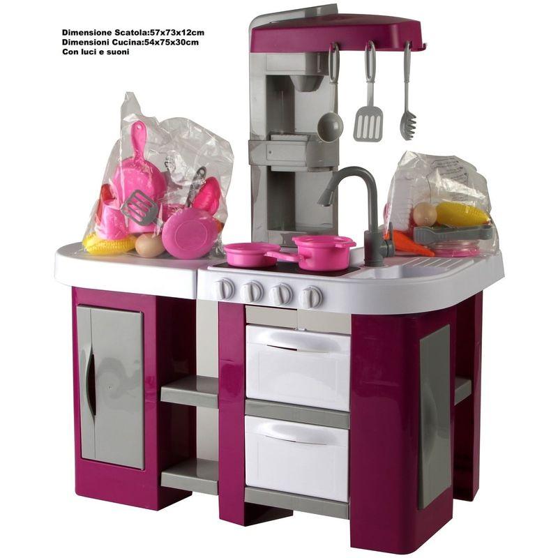 CUCINA GIOCATTOLO GRANDE PER BAMBINI cucina chef con TANTI accessori