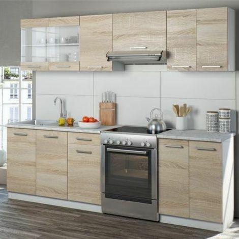 Cucina Completa Moderna.Cucina Moderna Componibile Completa Pensili Cucina 7 Pezzi E 11 Vani