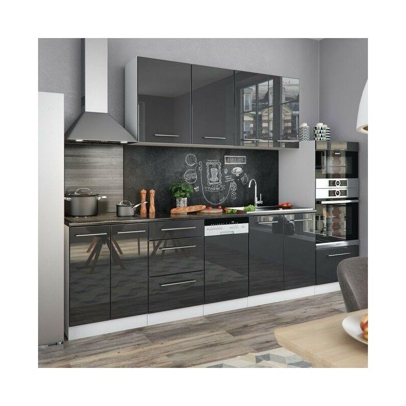 Cucina Moderna Cucina.Cucina Moderna Componibile Pensili 8 Pezzi Lunghezza 295 Cm Ante Lucide