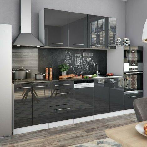 Cucina moderna componibile pensili 8 pezzi lunghezza 295 cm ...