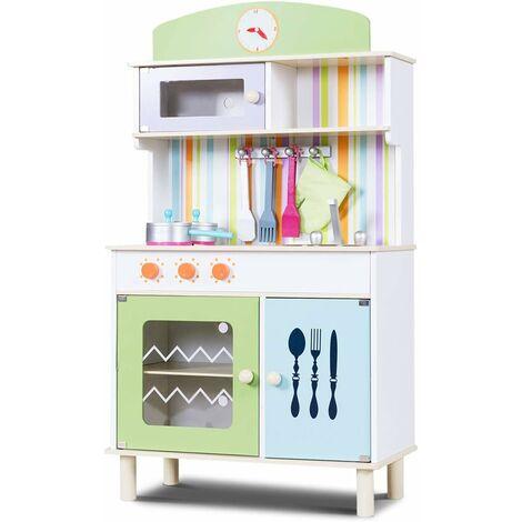 Cucina Per Bambini Cucina Giocattolo In Legno Con Accessori Riproduzione Perfetta Scelta Dei Colori Verde 0796914892236