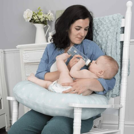 CuddleCo Cuscino per Allattamento in Memory Foam Comfi Mum Verde