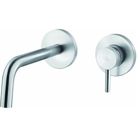 Mezclador para lavabo empotrado Paffoni LIGHT LIG006CR70 - LIG007CR70 | 175 mm - Steel Looking