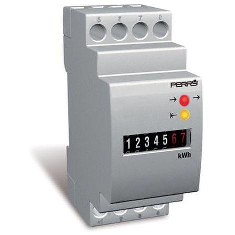 Cuentahoras electromecánico modular 230V cm 3,5x6,3x8,5 Perry 1COCO230/2