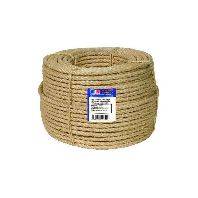 10m cuerda de yute 16mm 3-hebra