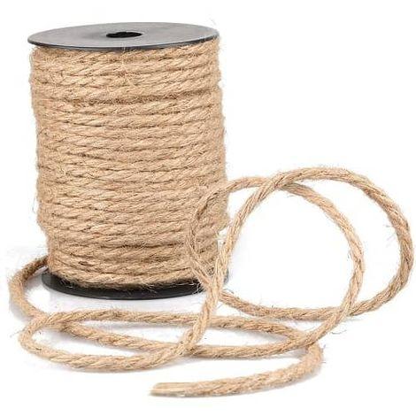 Cuerda de cañamo natural 100 m 10 mm Marron
