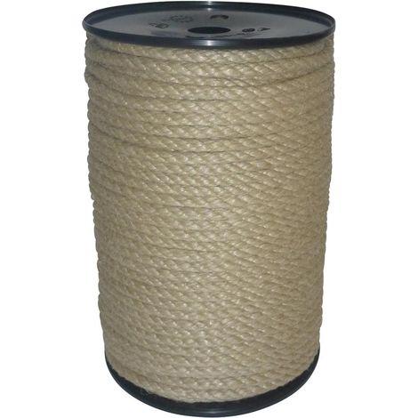 Cuerda de fibra de hilado 6mm 100M polipropileno