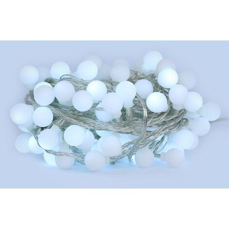 Cuerda de LED 10 metros 100 bolas blancas frías ( guinguette )