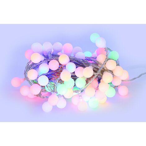 Cuerda de LED 10 metros 100 bolas RGB multicolor ( guinguette )