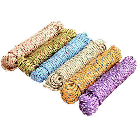 Cuerda de nylon de tendedero de lavanderia de 33 pies, linea de secado colgante