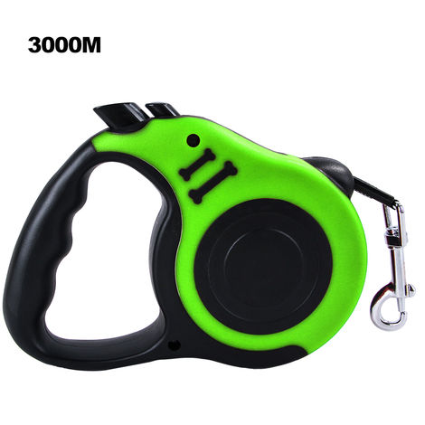 Cuerda de traccion automatica para perros, cachorros y gatos,Verde, 3000MM