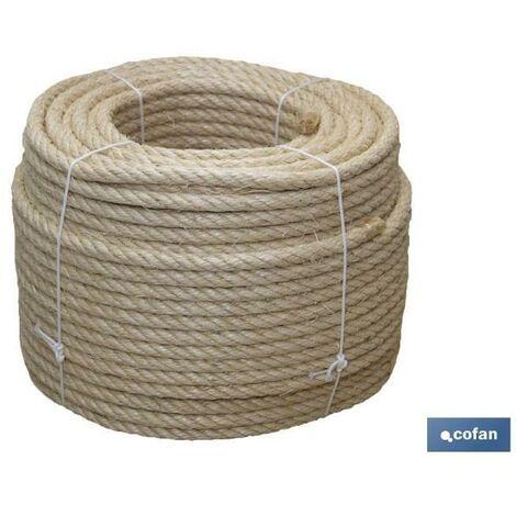 PLIMPO cuerda sisal 4 cabos 8 mm 100 mts natural