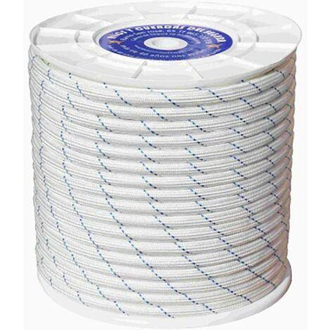 Cuerda Fijacion Trenzada Doble 20Mm 100 Mt Polipropileno Blanco/Azul Hyc 4102200100