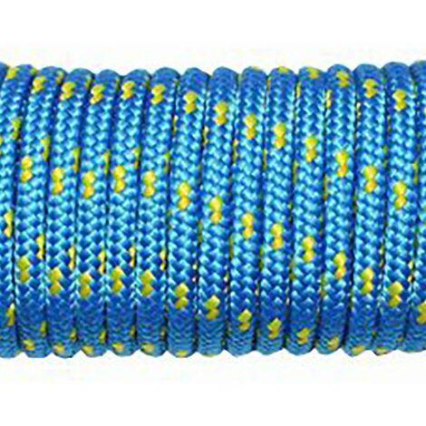 Cuerda Fijacion Trenzada Tendedero 05Mm 20 Mt Nylon Azul/Amarillo Hyc 5129050020