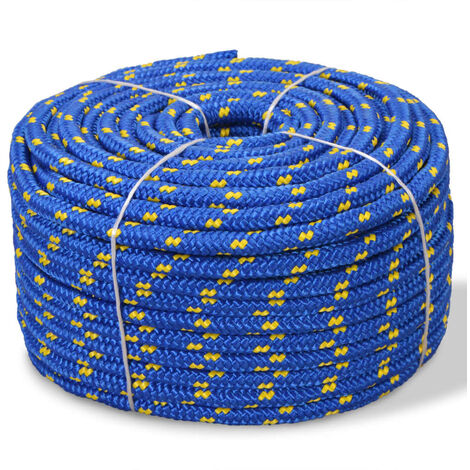 Cuerda marina de polipropileno 14 mm 50 m azul