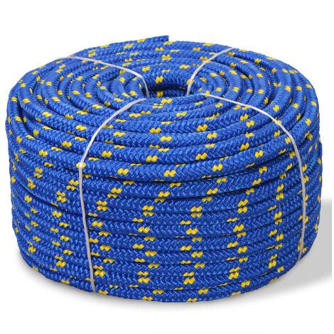 Cuerda marina de polipropileno 6 mm 100 m azul