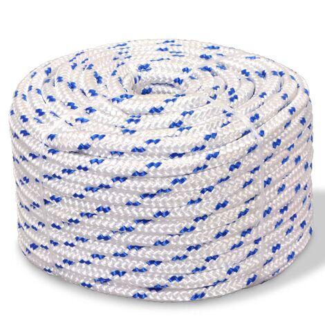 Cuerda marina de polipropileno 6 mm 100 m blanca