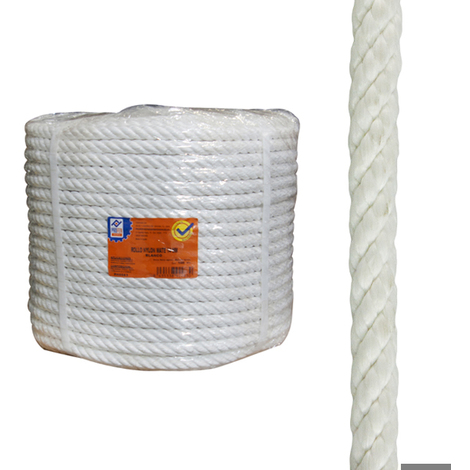 Cuerda Nylon Mate 16 Mm Blanco - NEOFERR - PH0584 - 100 M