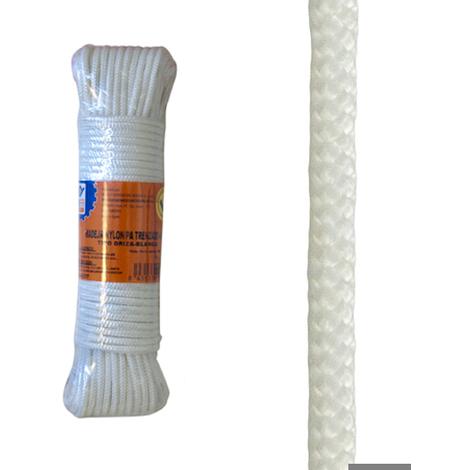 Cuerda Nylon Trenzado 4 Mm Bco - NEOFERR - PH0576 - 10 M