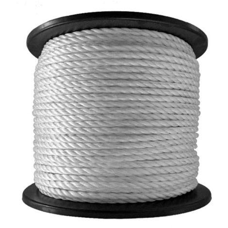 Cuerda para vallas de 8 mm de diámetro en rollo de 200 m con 6 conductores de acero de 0,20 mm
