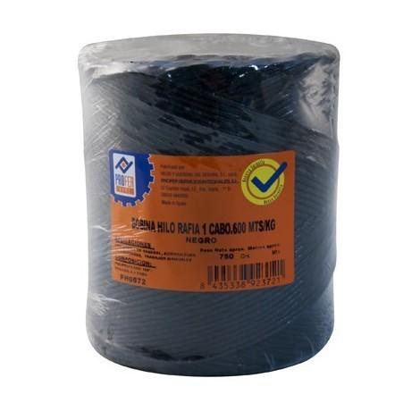 Cuerda Rafia 1 C.bobina Negro - NEOFERR - PH0672 - 750 G