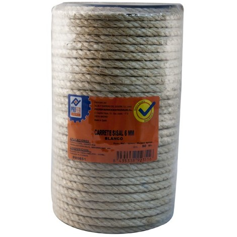 Cuerda Sisal 4 C. Carrete 6 Mm - NEOFERR - PH0651 - 50 M