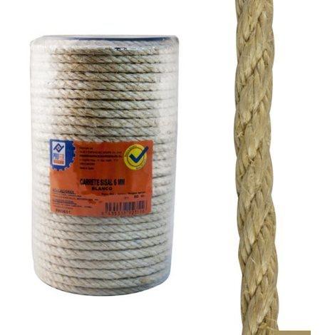 Cuerda Sisal 4 C. Carrete 8 Mm - NEOFERR - PH0654 - 50 M