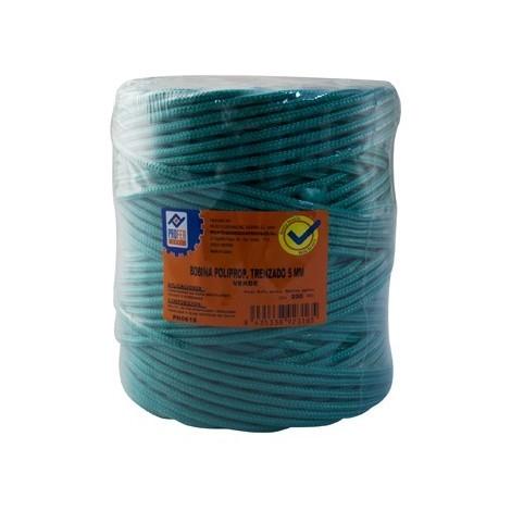 Cuerda tendedero polipropileno trenzado 5 Mm Verde - NEOFERR - PH0616 - 200 M