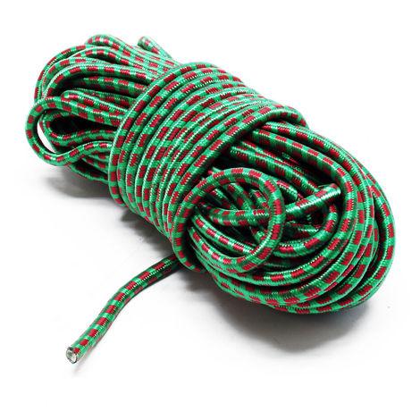 Cuerda tensora 20m Ø8mm Núcleo de goma Resistente a la intemperie y rayos UV Alta extensibilidad
