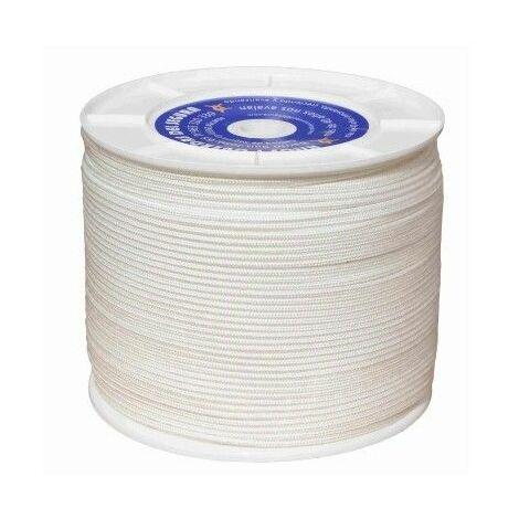 Cuerda Trenzada 04,5Mm Polipropileno Blanco Hyc 500 Mt
