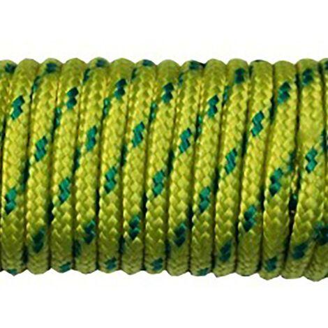 Cuerda Trenzada 05Mm Nylon Azul/Amarillo Tendedero Hyc 10 Mt