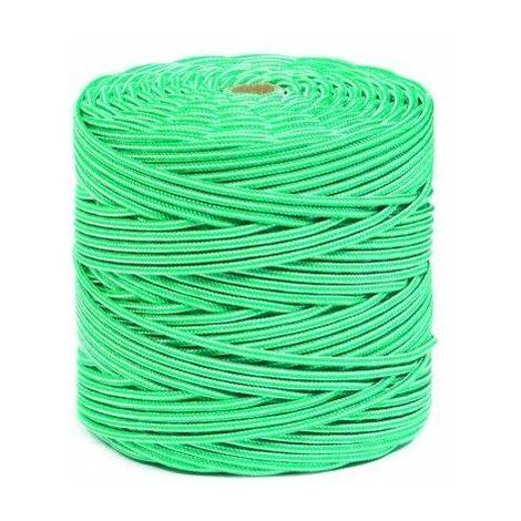 Cuerda Trenzada 05Mm Polipropileno Blanco/Verde Hyc 200 Mt