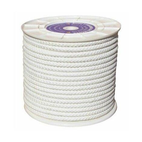 Cuerda Trenzada 06Mm Nylon Blanco Mate Hyc 200 Mt