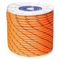 Cuerda Trenzada 06Mm Nylon Naranja/Negro Doble Escalada Hyc 10 Mt