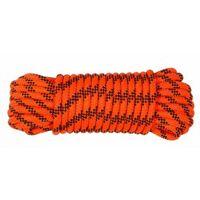 Cuerda Trenzada 06Mm Nylon Naranja/Negro Doble Escalada Hyc 20 Mt