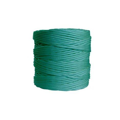 Cuerda trenzada 4mm. verde r/200mt.