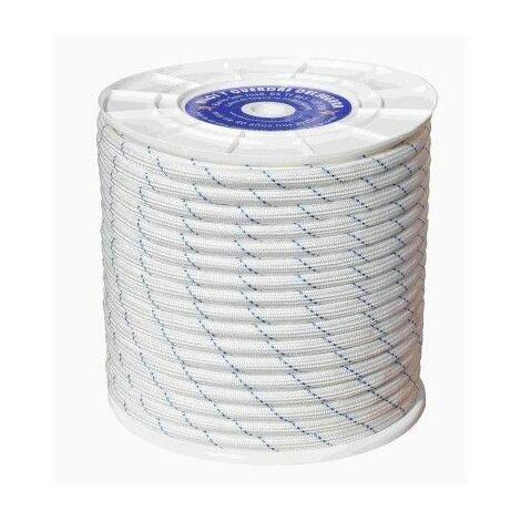 Cuerda Trenzada Doble 10Mm Polipropileno Blanco/Azul Hyc 200 Mt
