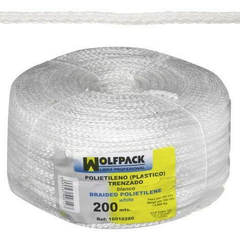 Cuerda trenzada plástico blanca (bobina 200 m.)