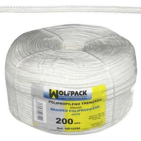 Cuerda trenzada polipropileno blanca (bobina 200 m.)
