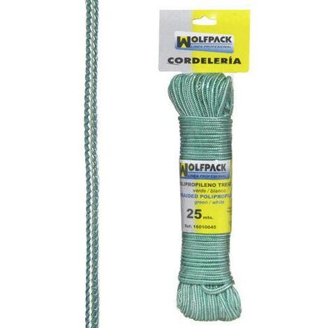 cuerda trenzada polipropileno blanca verde made